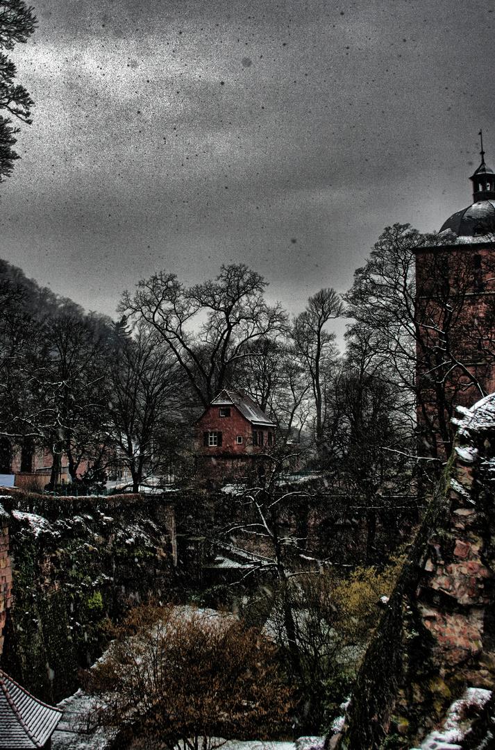 Schloss Heidelberg im Winter