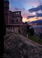 Schloss Heidelberg mit Abendstimmung