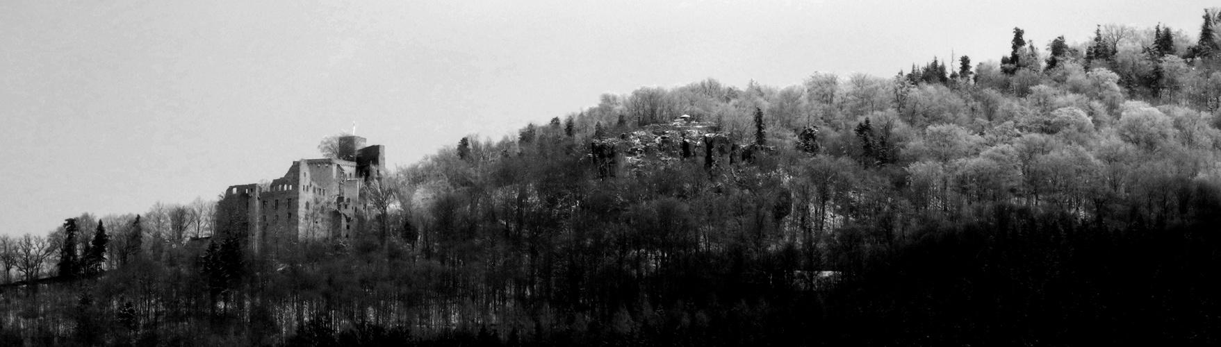 Schloss Hohenbaden im Morgentau