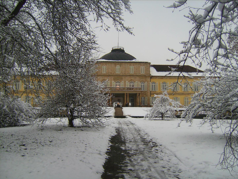 Schloss Hohenheim im Winter