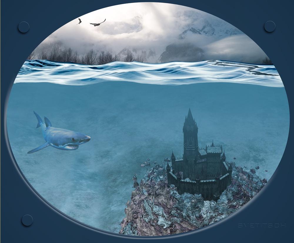 Schloss im Meer