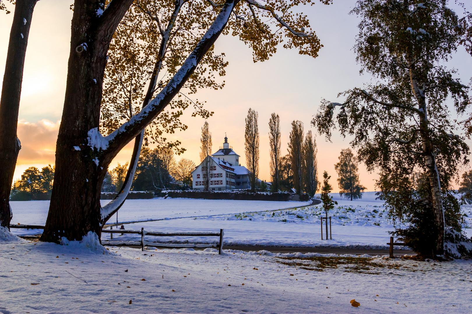 Schloss im Schnee