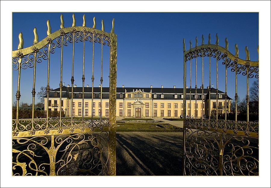Schloss in Wintersonne