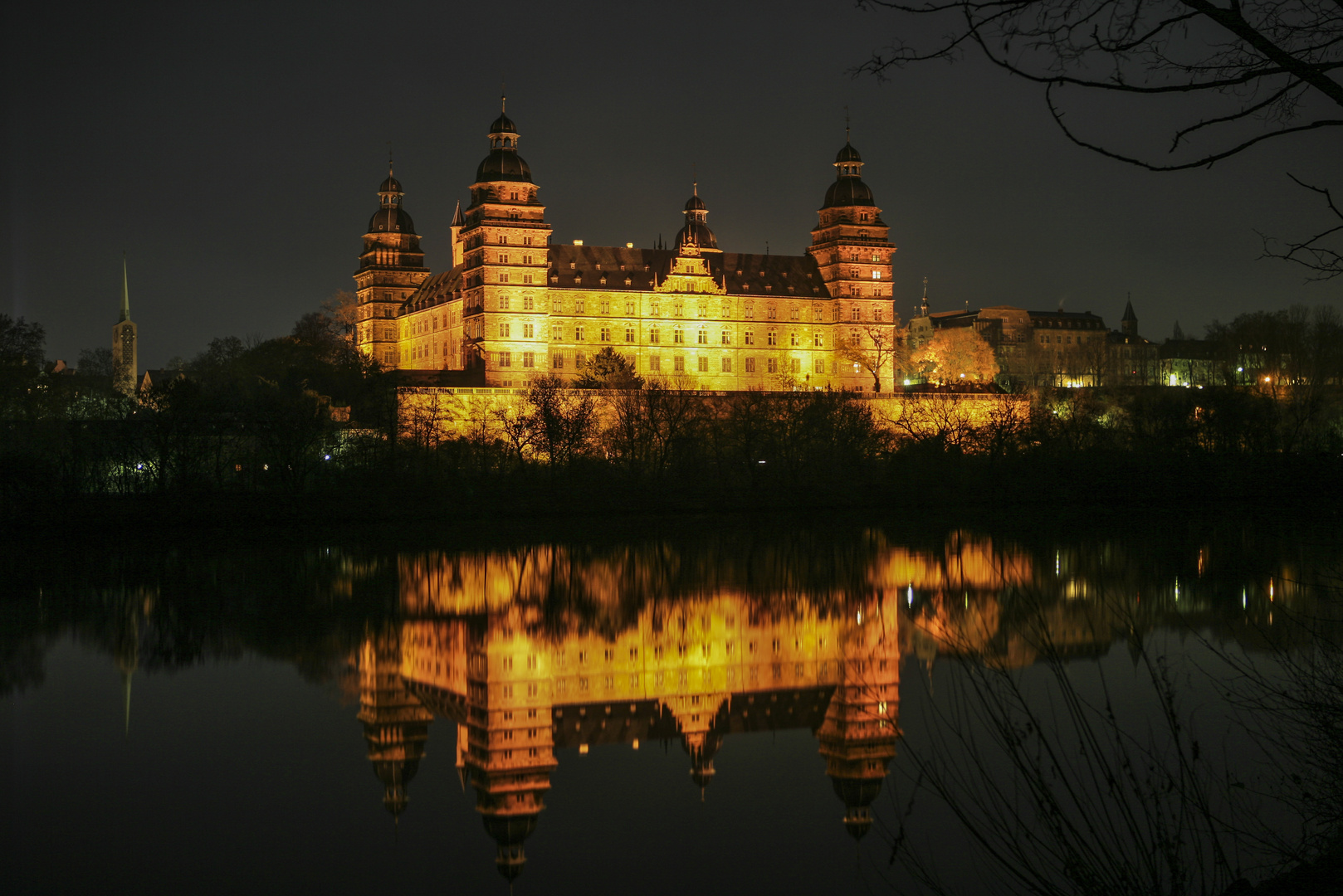 Schloss Johannesburg bei Nacht
