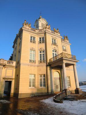 Schloss Karlsruhe in Dezembersonne