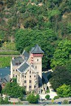 Schloss Liebieg - von der Felixhütte über Niederfell aus gesehen