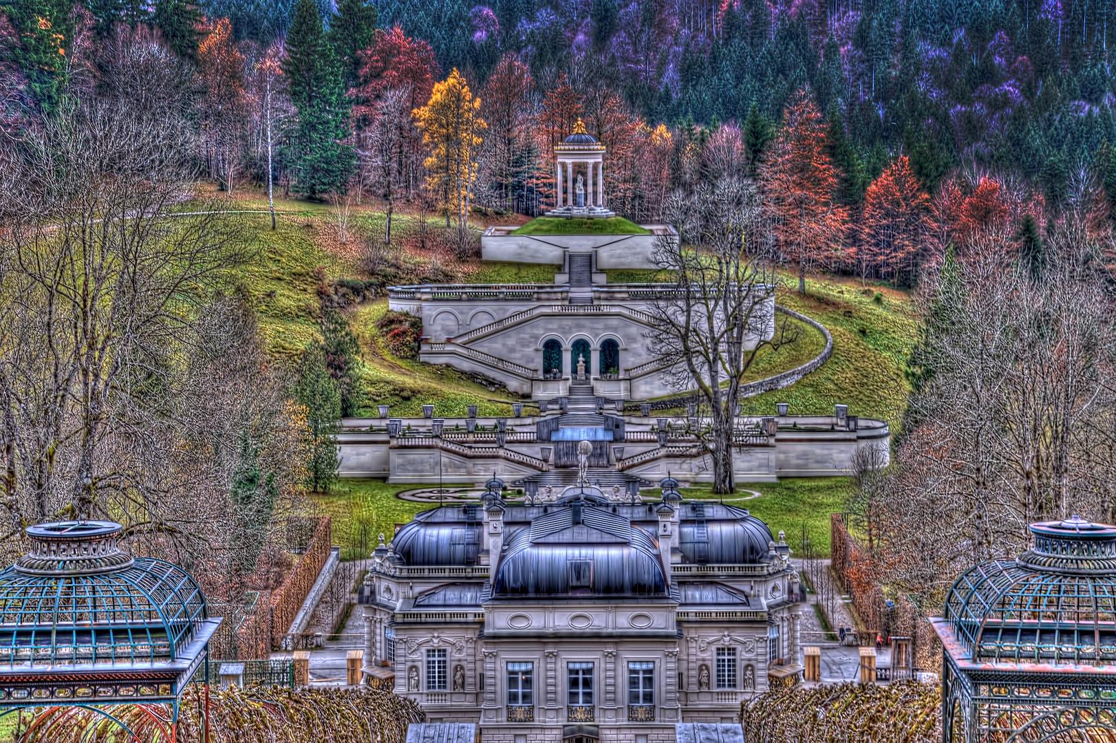 Schloss Linderhof - Spätherbst - HDR Tonung