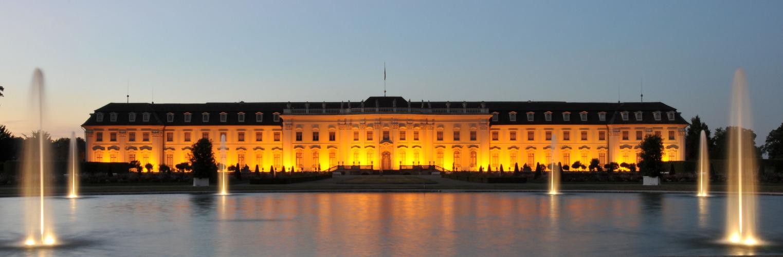 Schloss Ludwigsburg Südseite zur blauen Stunde