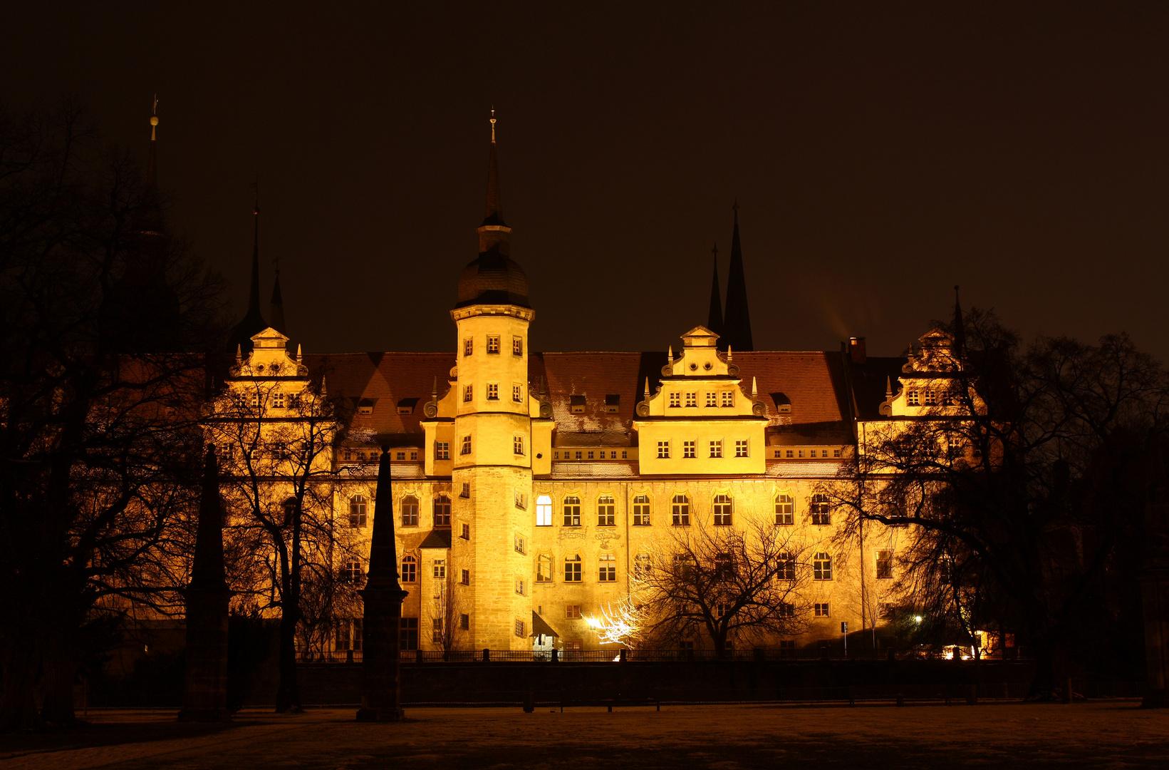 Schloss Merseburg bei Nacht