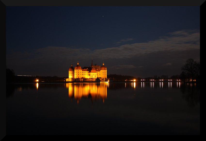 Schloss Moritzburg bei Nacht