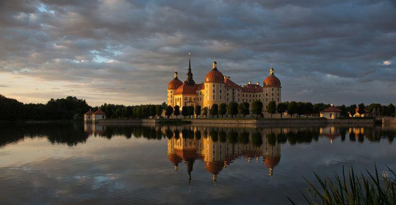Schloß Moritzburg im Abendlicht