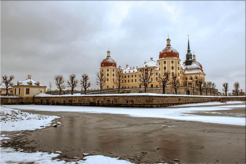 Schloss Moritzburg im Winter
