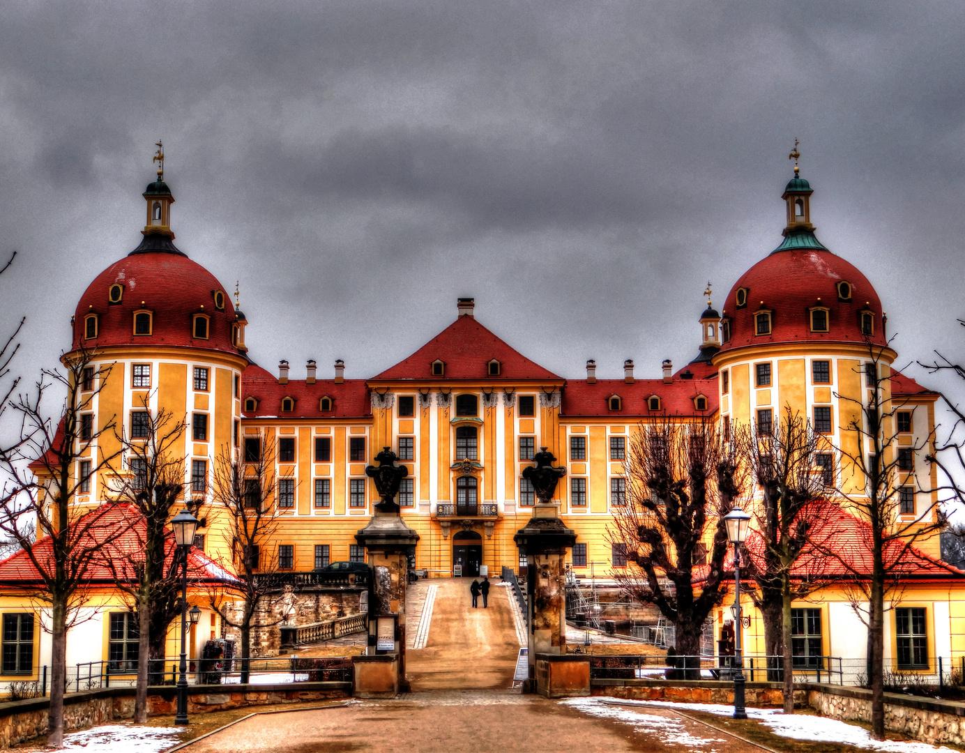 Schloss Moritzburg, Schloss, Südauffahrt