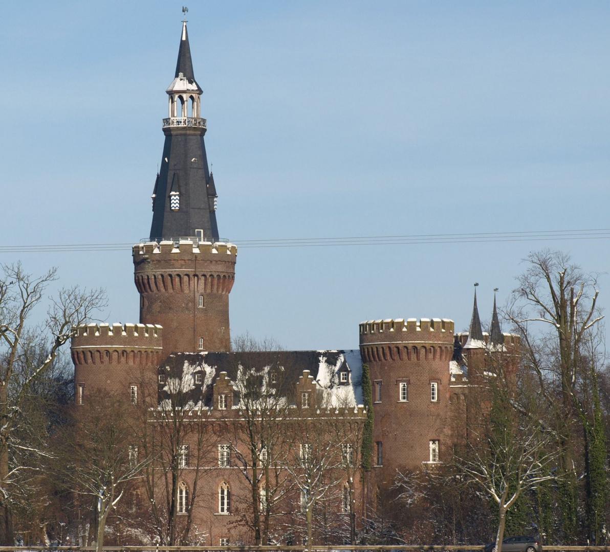 Schloss Moyland im Schnee