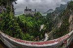 Schloss Neuschwanstein - Blick von der Marienbrücke