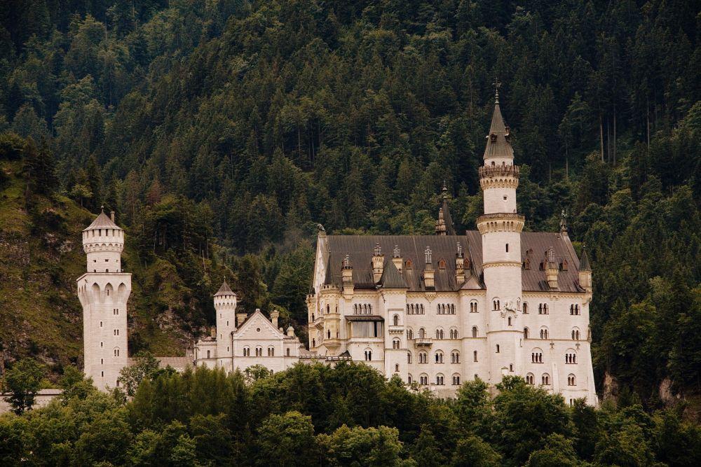 Schloss Neuschwanstein in mystischem Licht