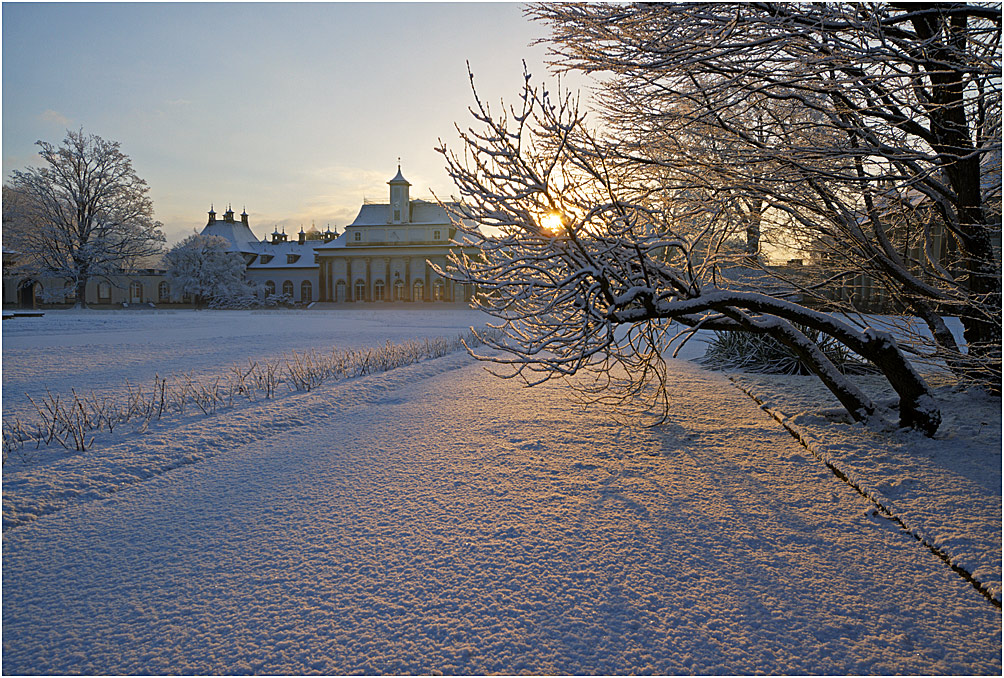 Schloß Pillnitz im  Winter I
