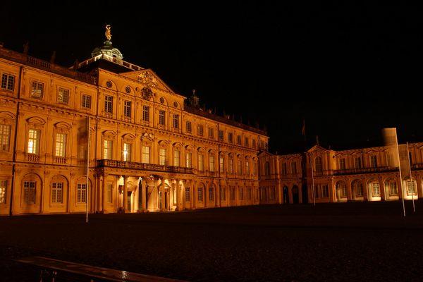 Schloss Rastatt bei Nacht