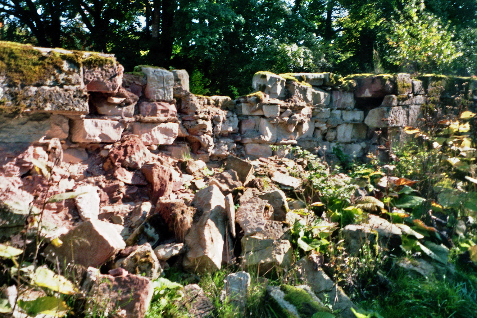 Schloß Reinhardsbrunn Thüringen Friedrichroda kapute Mauern