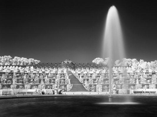 Schloß Sanssouci in IR