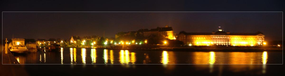 Schloss Saverne bei Nacht