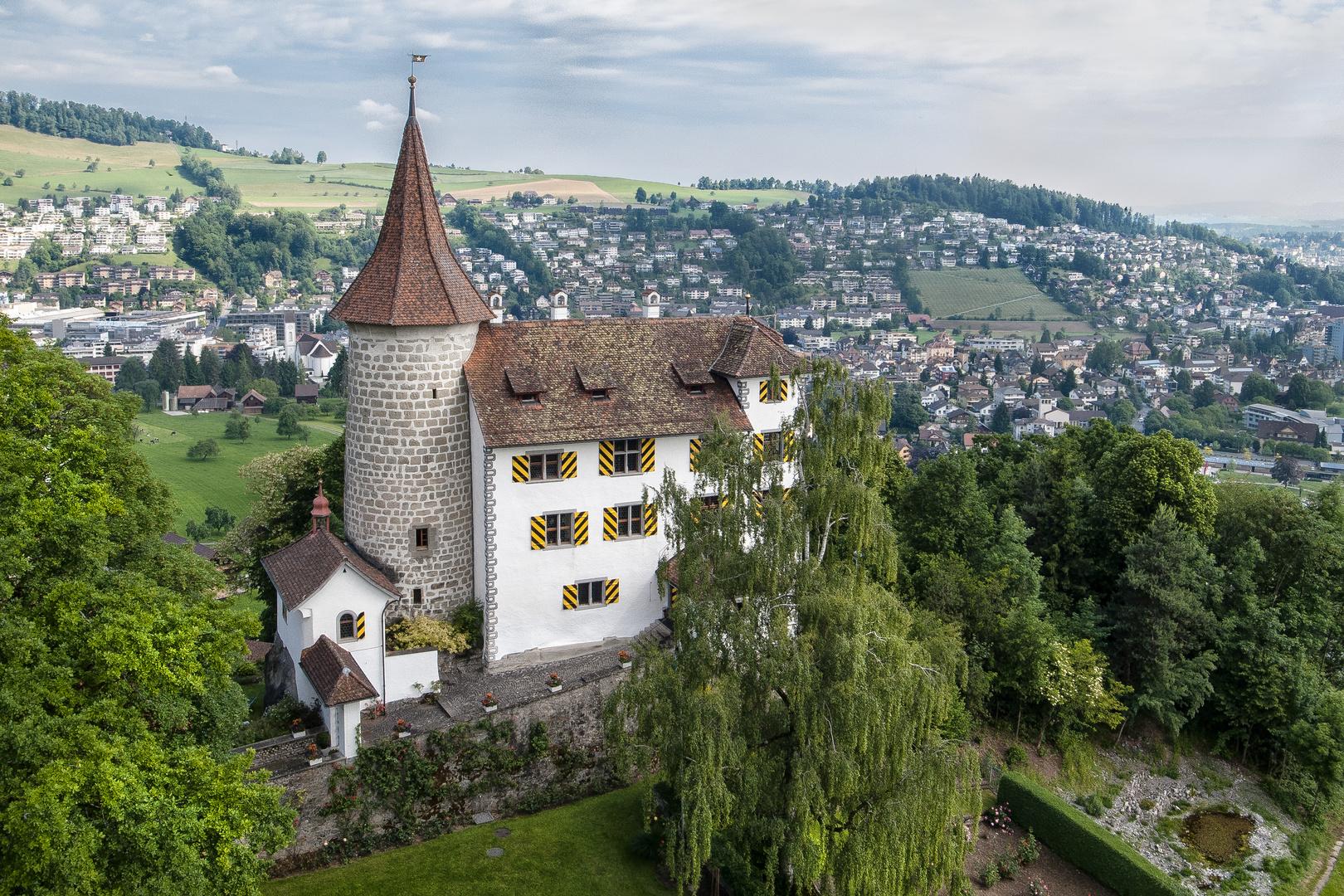 Schloss Schauensee / Aufnahme mit der Drohne Phantom und der Kamera Ricoh GR