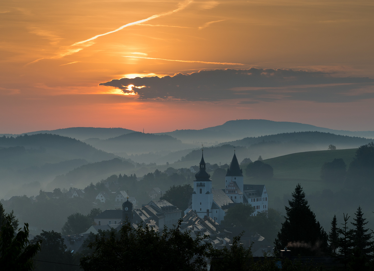 Schloß Schwarzenberg am Morgen