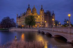 Schloss Schwerin Blaue Stunde