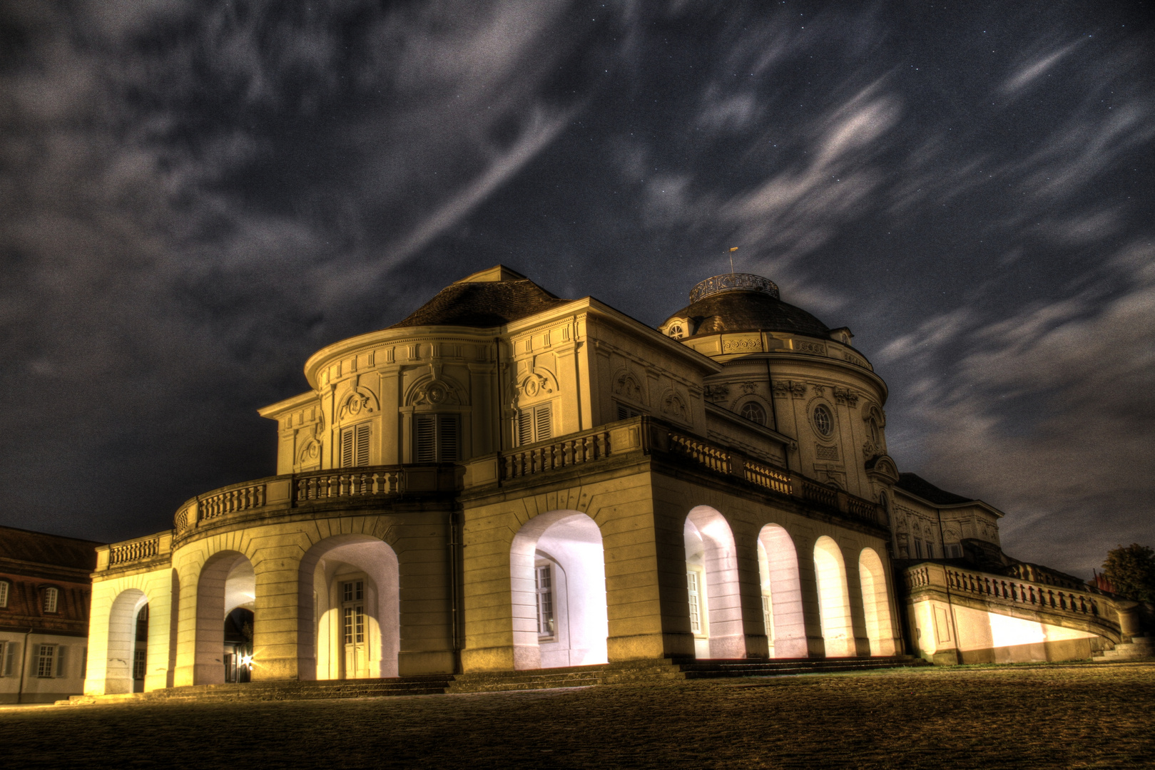 Schloss Solitude Stuttgart by night