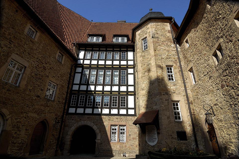 Schloß Spangenberg Innenhof