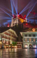 Schloss Thun bei Nacht