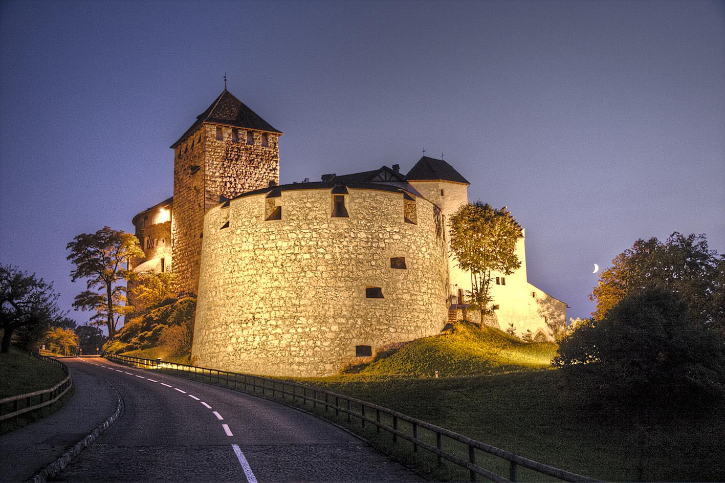 Schloss Vaduz in der Nacht