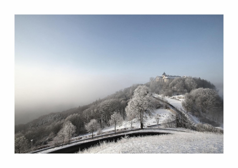 Schloss Waldeck und der Morgennebel