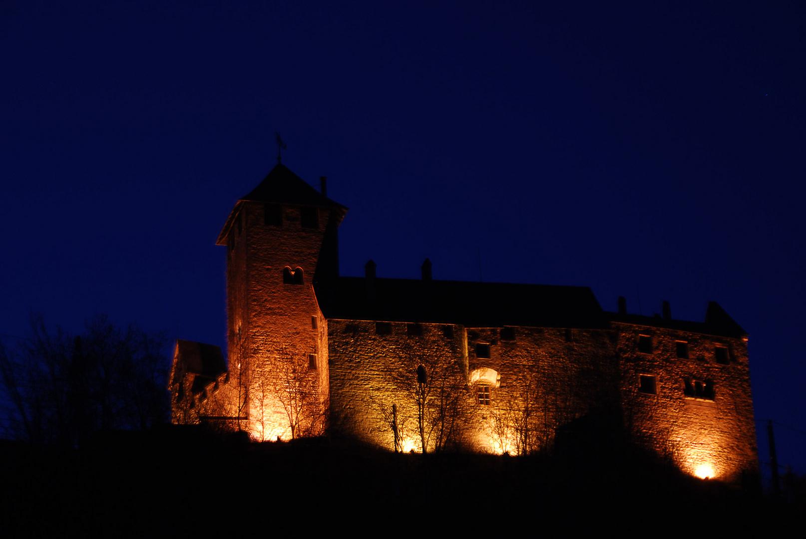Schloss Wiesberg zur blauen Stunde