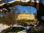 Schloss Wiesenburg im Winter