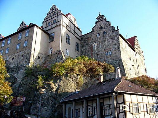 Schlossaufgang zum Quedlinburger Schloss