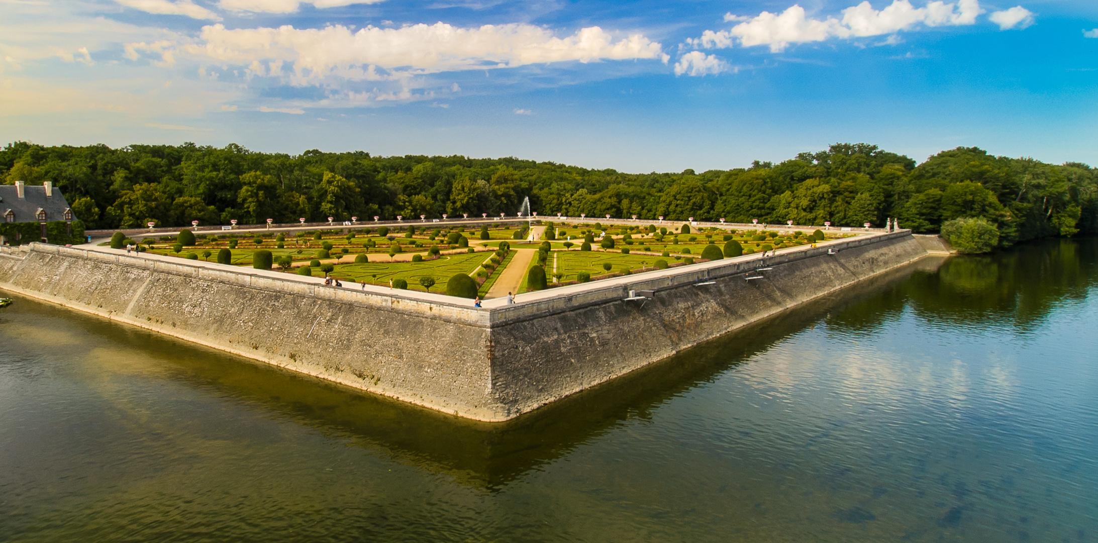 Schlossgarten Chenonceau - Loire/Frankreich