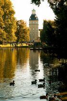 Schlossgarten Karlsruhe - Sommerliches Treiben im Herbst