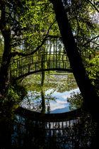 Schlosspark Dennenlohe - Brücke im Schatten