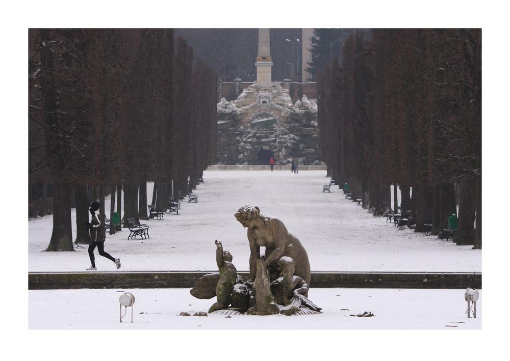 Schlosspark im Schnee (4)