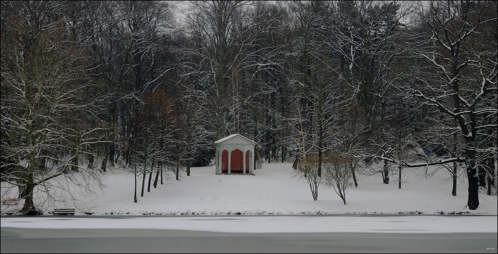 Schlosspark Machern im Winter