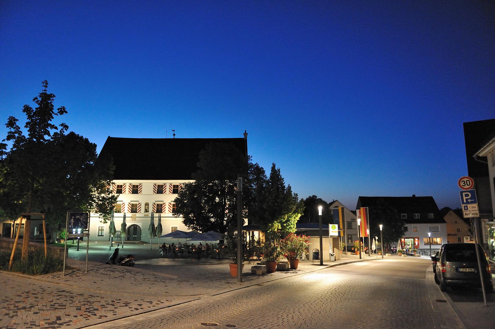 Schloßplatz in Neuhausen/Filder