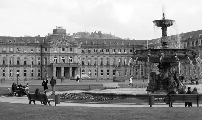 Schlossplatz und Neues Schloss Stuttgart