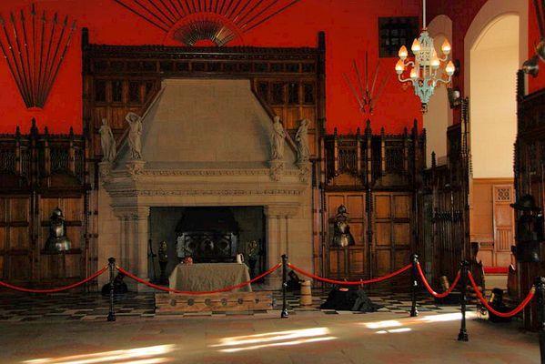 Schloßsaal Edinburgh Castle, Morgenlicht