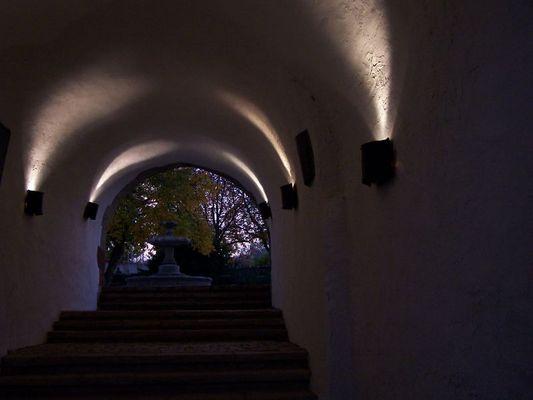 Schloßtreppe am Morgen