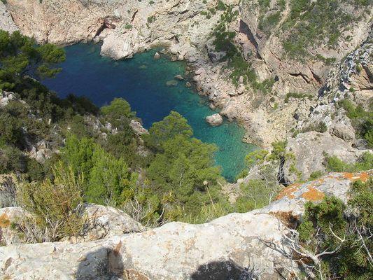 Schlucht auf Mallorca ca. 130 meter tief