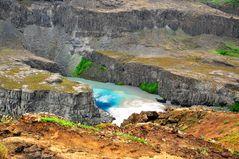 Schluchten des Hafragilsfoss unterhalb des Dettifoss (Anfang Juli 2012)