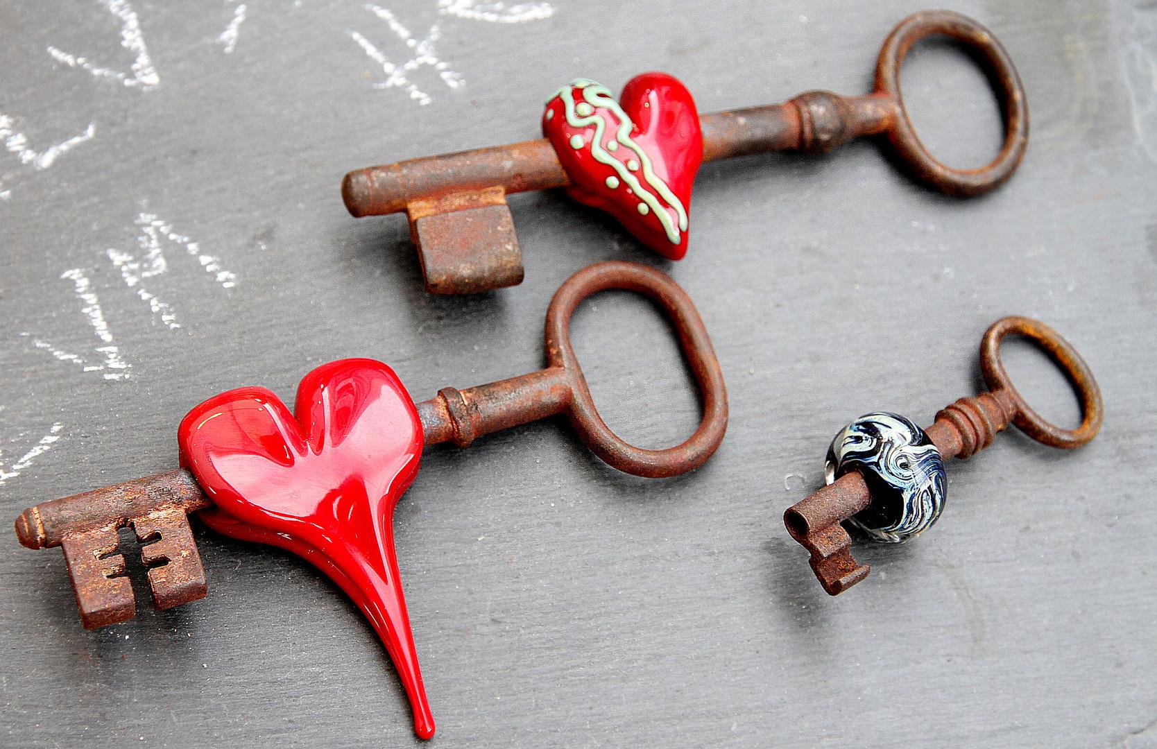 Schlüssel zum Herzen..................von wem und für wen auch immer..................