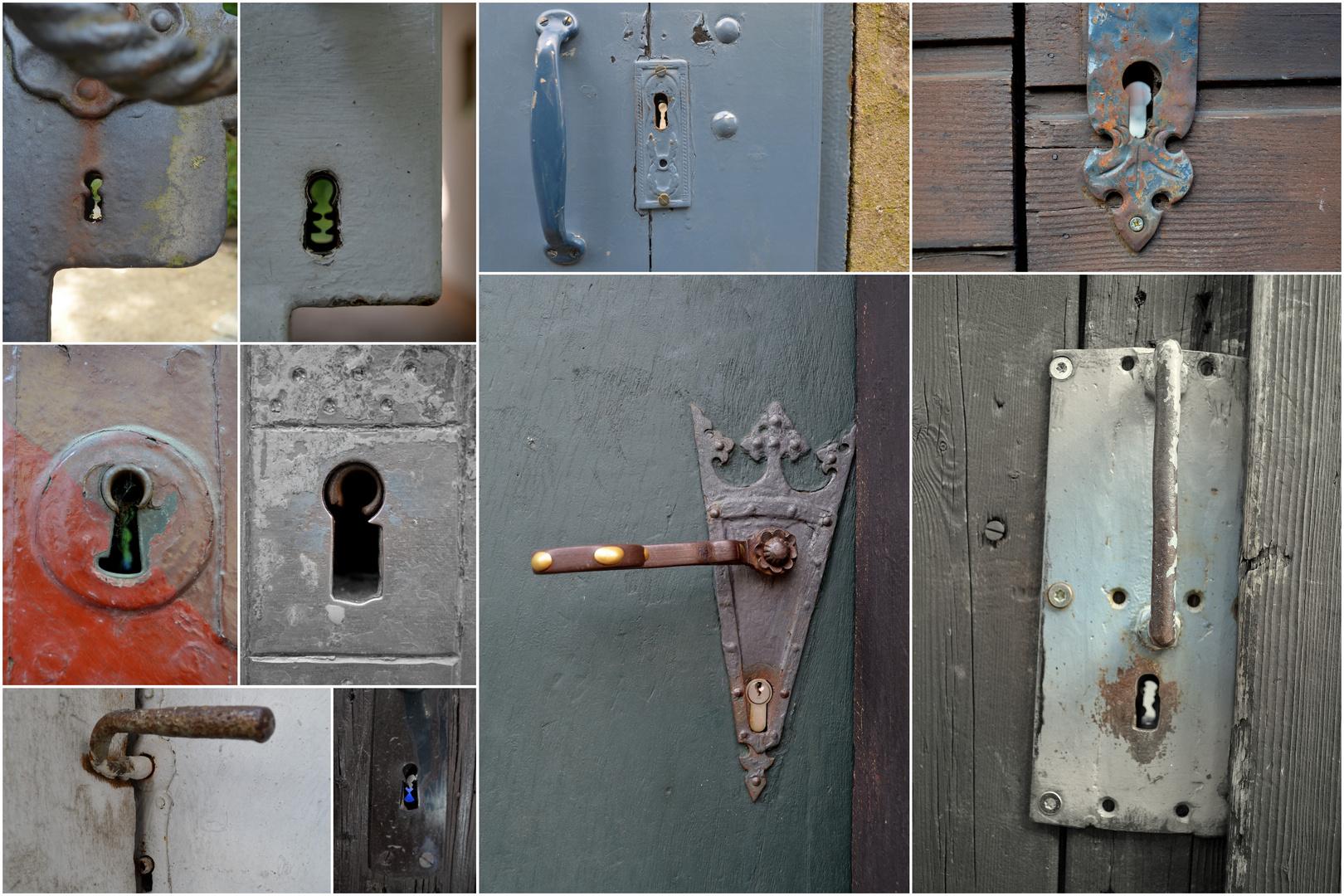 Schlüssellöcher von Goslarer Türen
