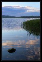 Schmachter See nach Sonnenuntergang